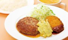 ハンバーグ和風ソース&ごぼうつくね天ぷら&なす味噌フライ.png