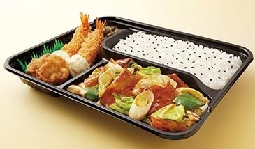 回鍋肉(ホイコーロー)エビフライ弁当.jpg
