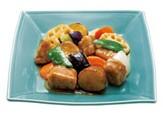 野菜と熟成豚ロースの黒酢炒め定食.jpg
