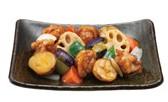 鶏と野菜の黒酢あん定食.jpg